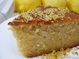 Damp Lemon & Almond Cake