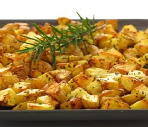 Oven Roasted Potatoes with Garlic and Rosemary